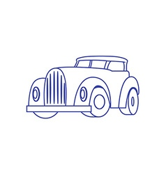 Cartoon Retro Car on white background vector image
