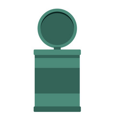 Garbage bin with opening lid icon isolated vector