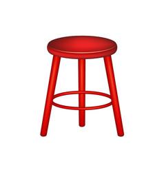 retro stool in red design vector image