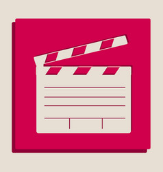 Film clap board cinema sign  grayscale vector