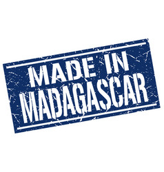 Made in madagascar stamp vector