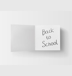 3d stack of white stickers with back to school vector image vector image