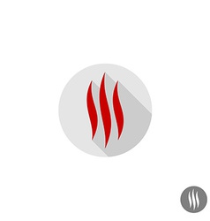 Fire flames sign vector image