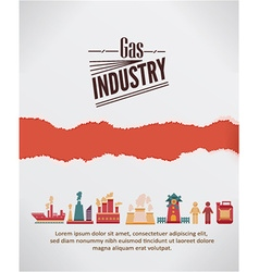 With industrial elements with torn paper vector