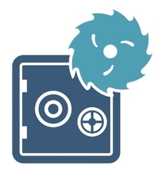 Hacking theft icon from business bicolor set vector