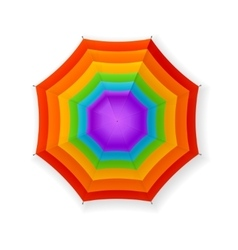 Autumn umbrella rainbow vector