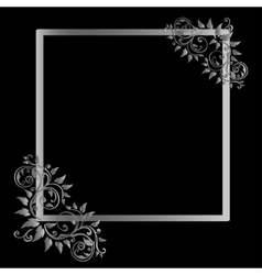 Vintage frame on black background vector