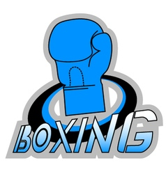 Blue boxing symbol vector