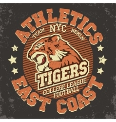 Angry tiger sport t-shirt graphics vector