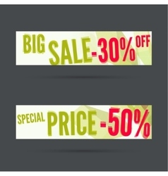 Set of discount banners vector