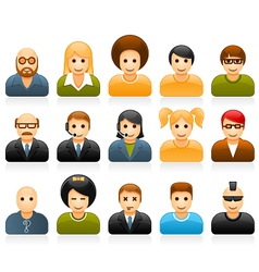 Glossy people avatar vector