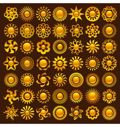 Sun Designs vector image