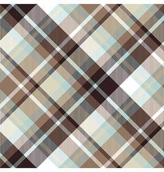 Brown blue diagonal check plaid seamless pattern vector