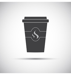Simple icon paper cup of coffee vector