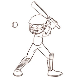 A plain sketch of a cricket player vector