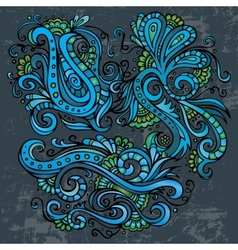 Abstract decorative neon floral elements vector