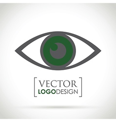 abstract eye icon green vector image