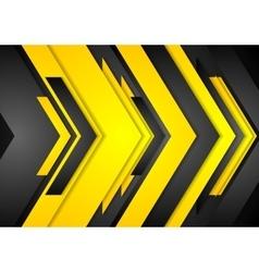 Abstract orange black tech arrows vector image vector image