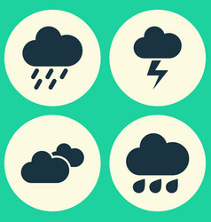 air icons set collection of lightning weather vector image vector image