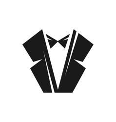 Black tuxedo logo vector image