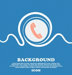 Call icon sign Blue and white abstract background vector image vector image