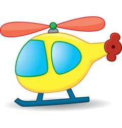 Cartoons helicopter vector image vector image