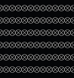 circle pattern with cross vector image vector image