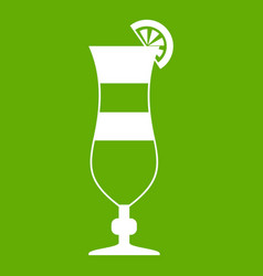 Cocktail icon green vector