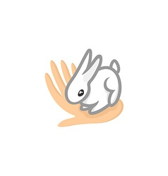 Contact zoo logo animal care symbol cute tiny vector