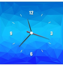 Creative clock on the abstract background vector