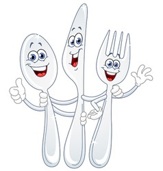 Cutlery cartoon vector
