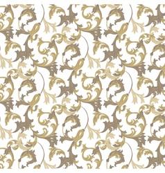damask pattern ornament vector image vector image