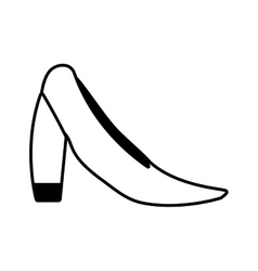 Female heel shoe icon vector image