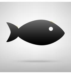 Fish black icon vector