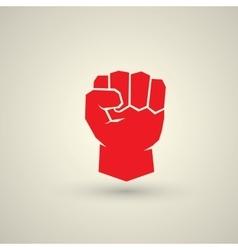 Freedom concept fist icon vector