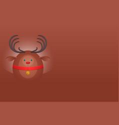 horizontal postcard with a christmas deer and vector image vector image
