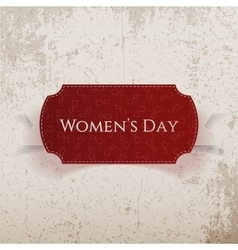 International womens day red paper card vector