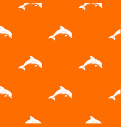 jumping dolphin pattern seamless vector image