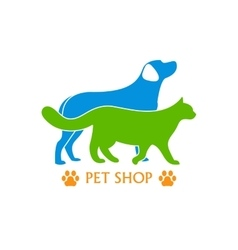 Logo design template for pet shops and veterinary vector image vector image