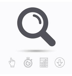 Magnifier icon Search magnifying glass sign vector image vector image