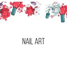 Nail lacquer bottles vector