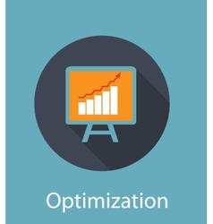 Optimization Flat Concept Icon vector image