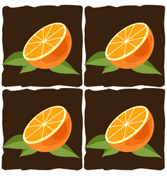 Orange citrus fruit vector