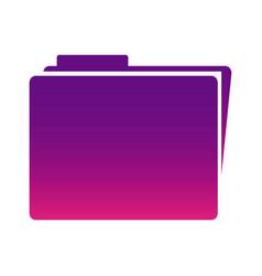 purple sheet file icon vector image