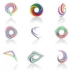 Rainbow themes vector