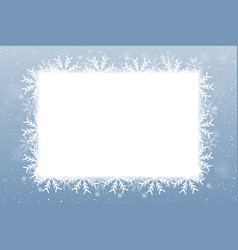 Rectangle blank banner snowflakes snow vector