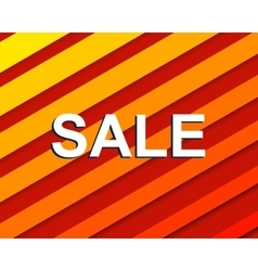 Red striped sale poster with sale text vector