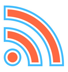 Rss sign subscribe button or wi-fi signal icon vector
