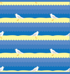 seagull pattern vector image