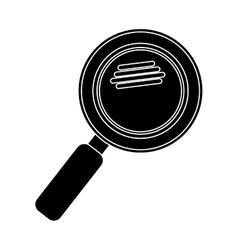silhouette magnifying glass with with glitters vector image vector image